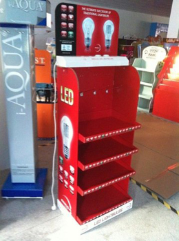 LED trade show display stand