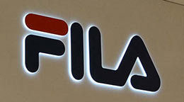 FILA Sign Board 3D LED Lights