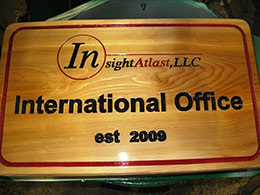 Engraving Office Sign